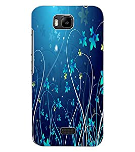 ColourCraft Floral Design Back Case Cover for HUAWEI HONOR BEE