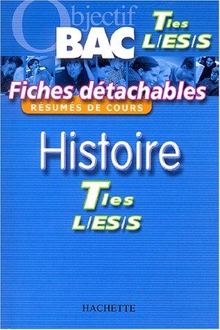 Fiches détachables : Histoire, terminales L-ES-S