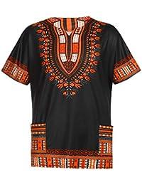 91b492eb95078 Waotier Camiseta con Estampado Vintage De Estilo éTnico Africano Camisas  Casual para Hombre De Verano