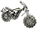 Winterworm Creative Retro Eisen Art Motorrad Modell Metall Moto Kollektion einfach modern Home Decor Ornaments für Motorrad Liebhaber, metall, silber