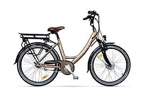 Vélo électrique Ville EVEO 450 Marron glaçé-36 V - 10,4 Ah