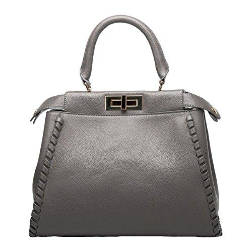 Leder Damen Mode Damen Handtasche Schulter Messenger Bag Grey