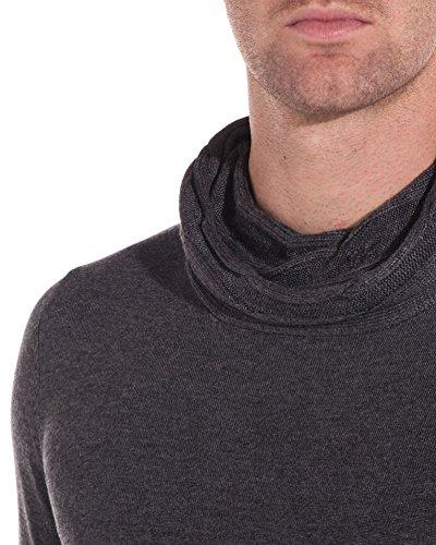 BLZ jeans - Herren-Pullover mit Kragen Grau Fit und Original- Grau