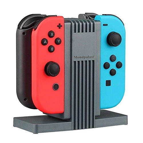 Odyssey Docking-station (MPTECK @ Ladegerät Ladestation Docking Station Joy Cons Lader für Nintendo Switch Joy-Con NINTENDO SWITCH Controller - Aufladen bis zu 4 Gamepads)