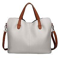 Black Friday!Clearence!Sonnena Fashion Womens Leather Pure Color Crossbody Bag Zipper Bag Vintage Shoulder Bag Hand Bag
