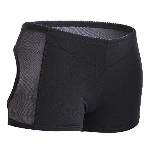 Womens Boyshort Panty Nahtlose kurze Schlüpfer Butt Lifter Control Unterhose (XL, Black)