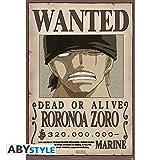 Póster One Piece. Roronoa Zoro, Se Busca. 91.5 x 61 cm
