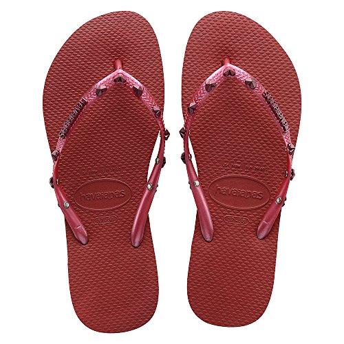 Havaianas Hardware, Sandales Plateforme femme red