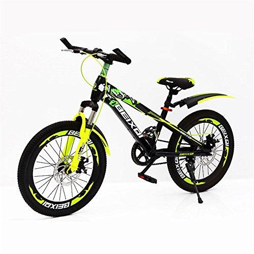 ZYPMM Kinder MTB Fahrrad / 18-Zoll-20-Zoll Kinderfahrräder / Jungen und Mädchen 21-Gang-Doppelscheibenbremsen Aluminium / Standard / grün rot ( Color : Green )
