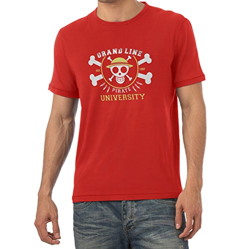 TEXLAB - Grand Line Pirates University - Herren T-Shirt Rot