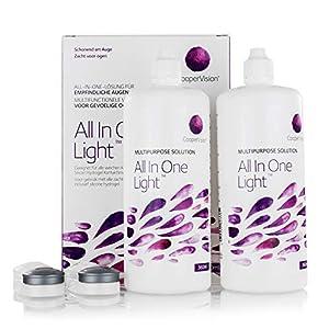 All In One Light – Kontaktlinsen-Pflegemittel – Kombilösung für das Reinigen der Kontaktlinse