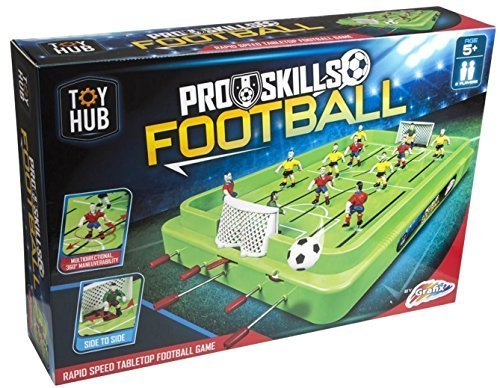 Pro Skills Tabletop Kids Football Game Six A Side Fast Action Total Table Soccer