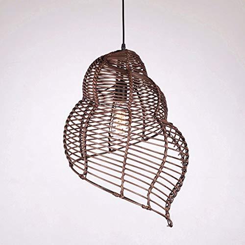 XUMINGDD Spiral-Pendelleuchten mit Muscheln Deckenleuchten Kreative Lampenform Höhenverstellbar E27-Unterkünfte Restaurants Teehaus-Halle Beleuchtung Dekoration -
