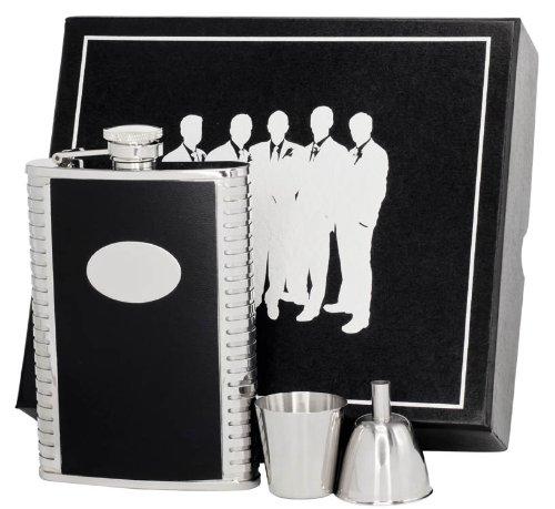 visol-vset62-1156-tux-leather-groomsmen-ii-flask-gift-set-8-ounce-black