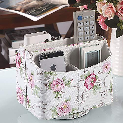 Leder Dvd-rack (LCTZWJ Luxury Creative Designed Desktop Organizer Fernbedienungshalter Stand mit - Controller-Manager , Speichern Sie Make-up, Smartphone, DVD, Blu-Ray oder TV-Fernbedienungen - PU-Leder-Aufbewahrungs)