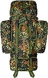 normani Rucksack Alpin 110 Liter mit abnehmbaren Seitentaschen (Daypack) Farbe Flecktarn