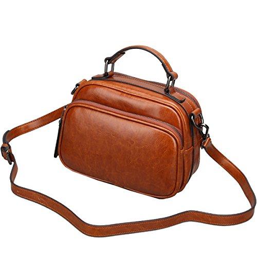 Messenger Bag Yy.f Nuova Piccola Borsa In Pelle Un Piccolo Partito Insacca Borse Borse Vintage Diagonale Brown