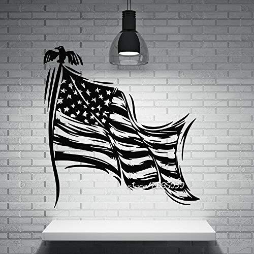 hllhpc Patriotische Dekor Wandaufkleber Sterne Gestreiften Symbol der Staatsflagge der USA Wandtattoos Perfekte Qualität Wallpaper Poster 57 * 64 cm