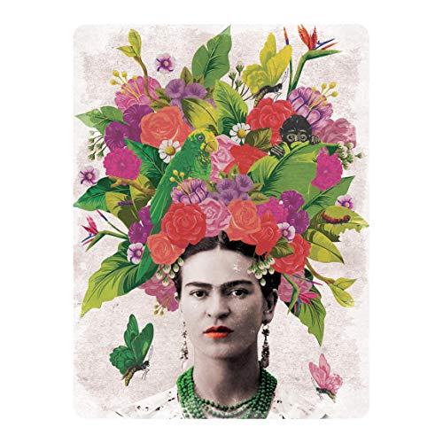 Bilderwelten Selbstklebendes Wandbild Frida Kahlo Blumenportrait Hochformat 4:3 96cm x 72cm