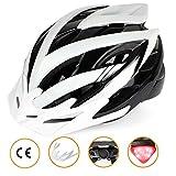 Shinmax Fahrradhelm mit LED-Licht, CE-Zertifiziert, Verstellbarer Fahrradhelm mit Sicherheitslicht Superleichter Fahrradhelm Erwachsenen Fahrradhelm mit Abnehmbarem Visier