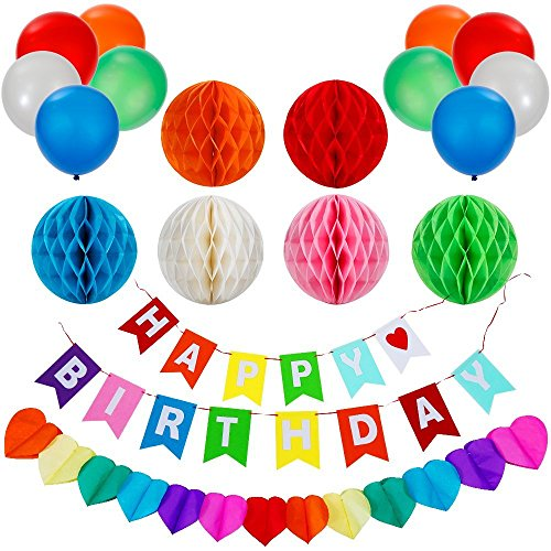 Lictin Birthday Party Decorations Favors Happy Birthday Banner with