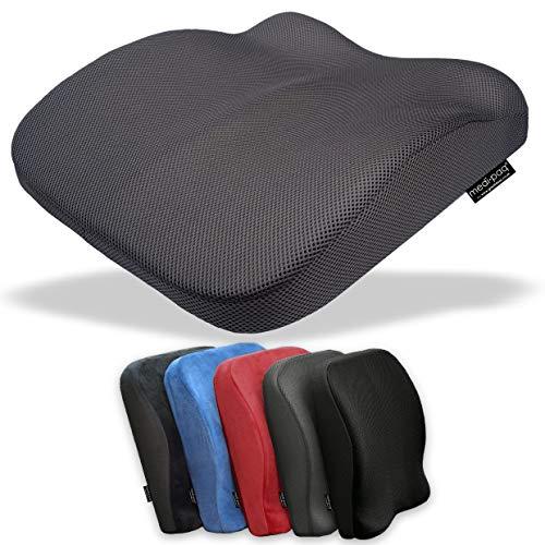 Medipaq, cuscino 2 in 1 per seduta e schienale, in memory foam, riduce il mal di schiena, migliora la postura a casa, sedie da ufficio, sedia a rotelle o sedili dell'auto.