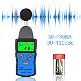 Dezibel Messgeraet,Digital Schallpegelmessgerät,Mess 30dBA~130dBA Tragbar LCD Anzeige Sound Level Meter