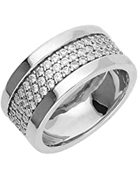 Esprit Jewels Damen-Ring 925 Sterling Silber Pure Pave wide ESRG92215A1