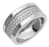 Esprit Jewels Damen-Ring 925 Sterling Silber Pure Pave wide Gr. 53 (16.9) ESRG92215A170
