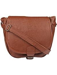 Style Loft Leather Maroon Sling Bag Cross Body For Women & Girls(SL-023)