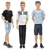 Kitty princess 3 Sätze von täglichen Puppe Kostüm Puppe für Barbie Freund Ken Puppe - zufälligen Stil