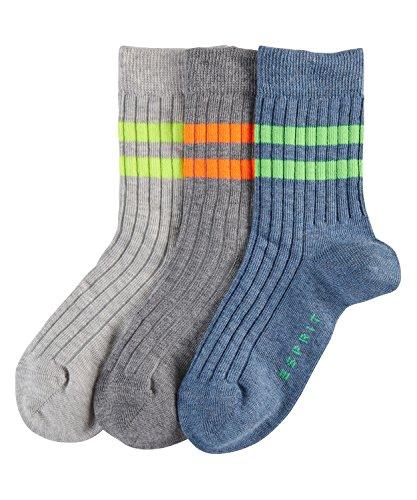 ESPRIT Jungen Socken Rib, 3er Pack, Mehrfarbig (Sortiment 0010), 35-38 (Jungen 3-pack Rib)