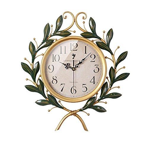 OOFYHOME Wanduhr American Pastoralen Stil Olive Wanduhr Fashion Art Uhr  Digitaluhr Stille Nicht Tickende Uhr