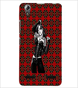 PrintDhaba Beautiful girl D-4063 Back Case Cover for LENOVO A6000 (Multi-Coloured)
