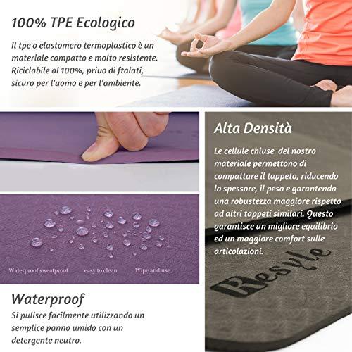 Tappetino da Yoga in Gomma Naturale Larghezza 5 mm HaHei