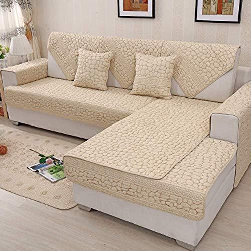 ZTMN Almohadilla de algodón seccional para sofá para Toda la Temporada, Protectores antirresbaladizos para Muebles Acolchados para Mascotas. Funda Antideslizante para sofá en Forma de u-1 Pieza-C