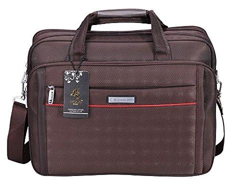 VIDENG POLO Laptop Bags Extended 15.6 inches Briefcase Business Shoulder Bag Mens Handbag (C3,