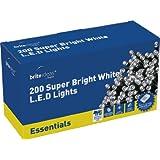 Brite Ideas Festive 200 Multiaction LED Lights, White