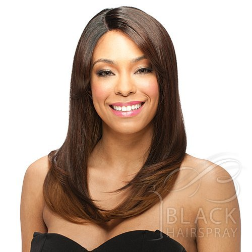 ModelModel Deep Invisible Part Lace Front Wig Mademoiselle (#1 Jet Black) by Model Model