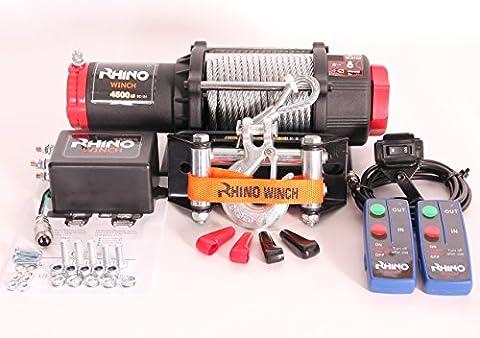 4500lb (2045kg) WINCH Câble en acier 12V 50% plus de puissance que 3000lb (Winch Quad Bike ATV Boat)