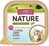 Schmusy Katzenfutter Nature Balance für Kitten mit Lachs 100 g, 16er Pack (16 x 100 g)