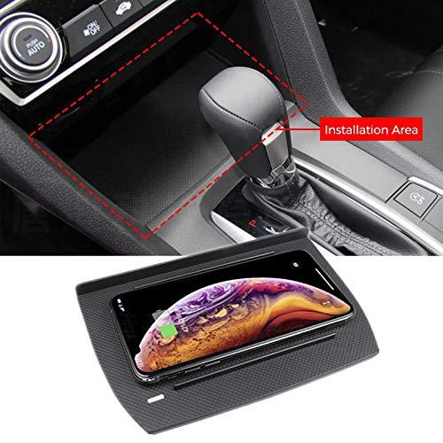 【Per Honda Civic 2016-2019】Caricabatterie Wireless Per Auto, Ricarica Rapida Per Telefono Cellulare Con Console Anteriore da 10W, Compatibile con Galaxy S9/S9+/S8/S8+/S7, iPhone 8/8+/ X/XS/XS Max/XR