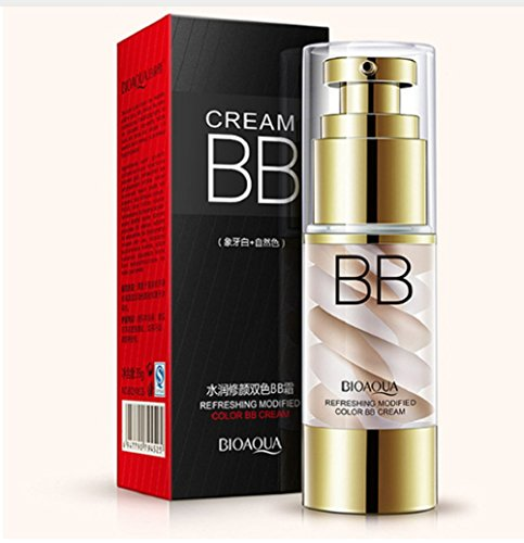 BIOAQUA Brand Ice Cream Double Color Cushion BB CC Cream Nude Make Up Primer Liquid Foundation Concealer Korean Base Maquiagem (#1)