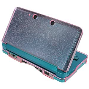 Assecure Coque rigide avec cristal type peau pour Nintendo 3DS Rose brillant
