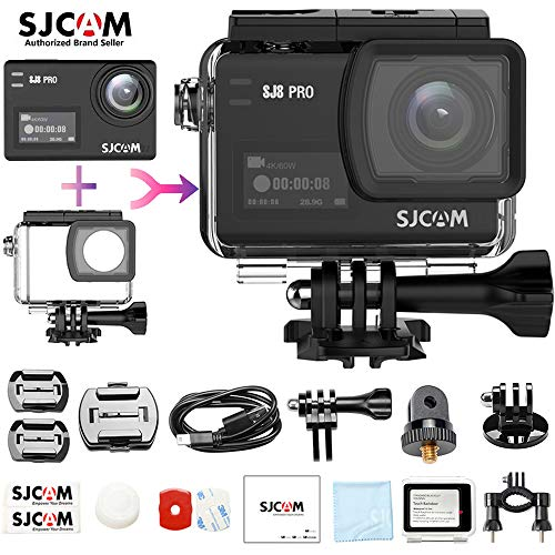SJCAM SJ8 Pro Real 4K/60FPS Action Camera,Waterproof, WiFi Remote Control, 170°Wide-Angle Lens, 2.33