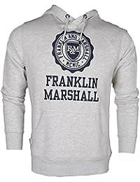 Franklin & Marshall Herren Kapuzenpullover grau grau