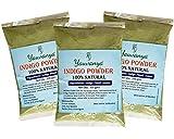Yauvanya Poudre Indigo Pure pour cheveux - 3 X 100 Gms
