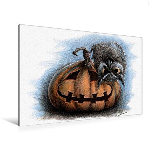 and 120 cm x 80 cm quer, Vampir Eule | Wandbild, Bild auf Keilrahmen, Fertigbild auf echter Leinwand, Leinwanddruck: Halloween (CALVENDO Kunst) (80 Halloween Cartoons)