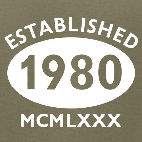 Gegründet 1980 Römische Ziffern - 37 Geburtstag - Herren T-Shirt - 13 Farben Khaki