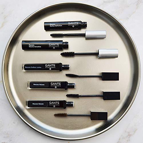 SANTE Naturkosmetik Mascara Perfect Definition No. 01 black, Verleiht starkes Volumen & definierte Wimpern, Mit Bambusextrakt, 8ml